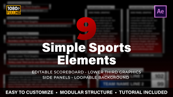 Simple Sports Elements Kit Download Free