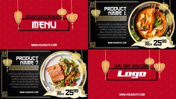 Asian Menu - Restaurant Promo Download Free