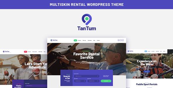 TanTum | Car, Scooter, Boat & Bike Rental Services WordPress Theme