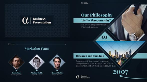 Alpha Business Presentation Download Free