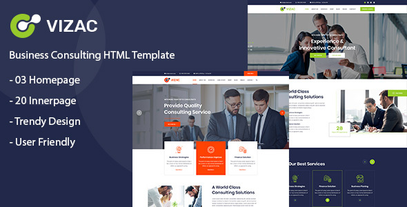 Vizac - Consulting Business HTML Template by tanvir82