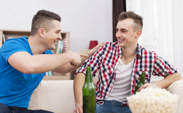 Funny time with the best friend - Stock Photo - Images