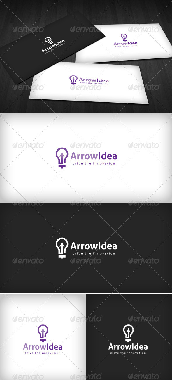 Arrow Idea Logo - Vector Abstract