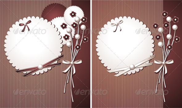 Pearl design with frame flowers for decoration  - Decorative Vectors