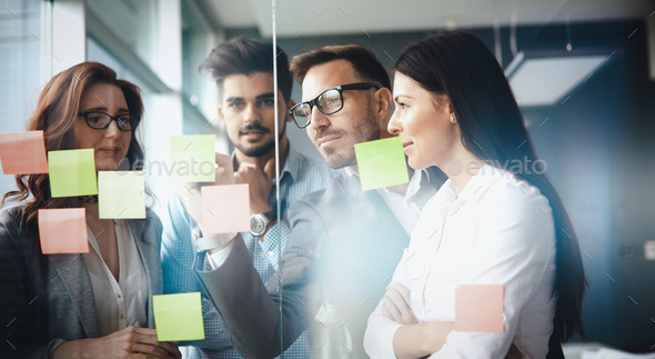 Business colleagues in conference room - Stock Photo - Images