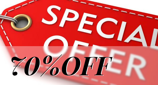 Special Offer 70% OFF