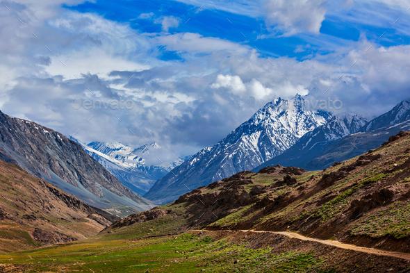 Himalayas. On the trek to Chandra Tal Lake 4300 m . Spiti, Himachal Pradesh, India - Stock Photo - Images
