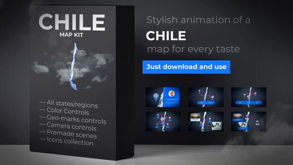 Chile Map - Republic of Chile Map Kit Download Free