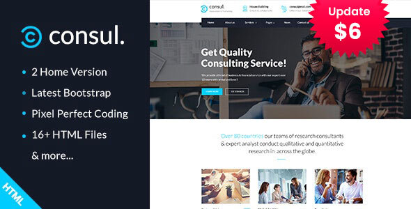 Consul - Business Consulting Services HTML Template