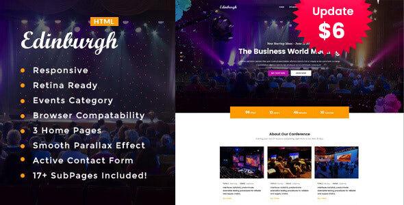 Edinburgh - Conference & Event HTML Template