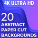 20 Abstract Paper Cut Backgrounds 4K - VideoHive Item for Sale