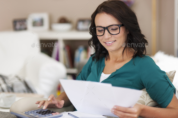 Today is time for paying bills - Stock Photo - Images