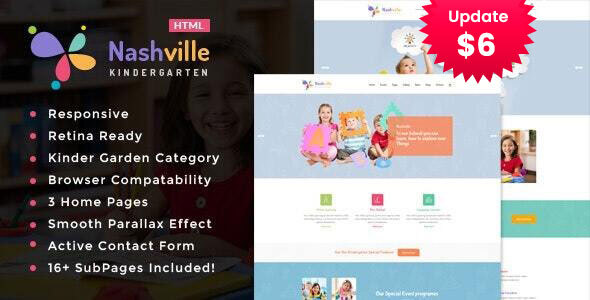 Nashville - Kindergarten & School HTML Template