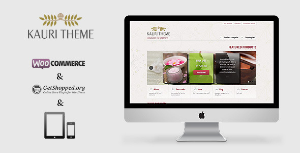 Kauri – responsive theme for WooCommerce