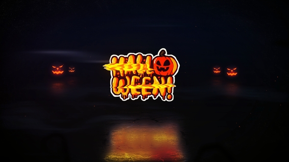 Halloween Glitch Logo Download Free