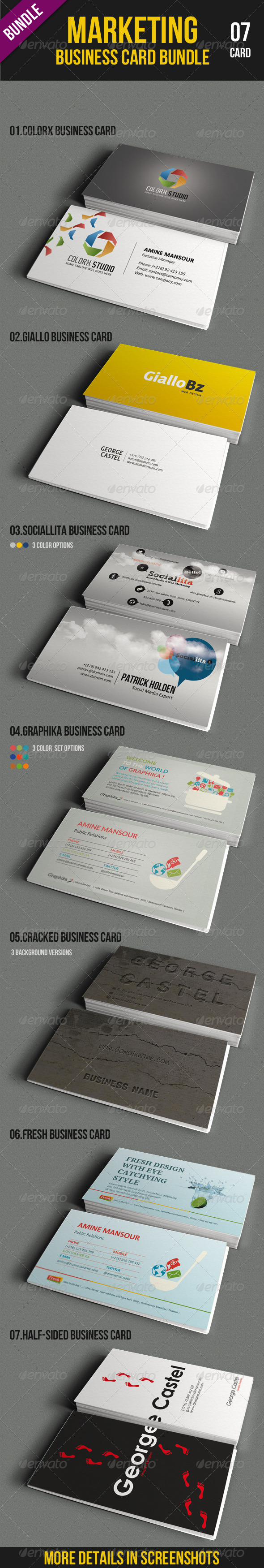Marketing Business Card Bundle - Corporate Business Cards