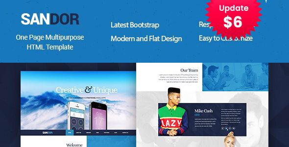 SANDOR Creative HTML Multipurpose Template