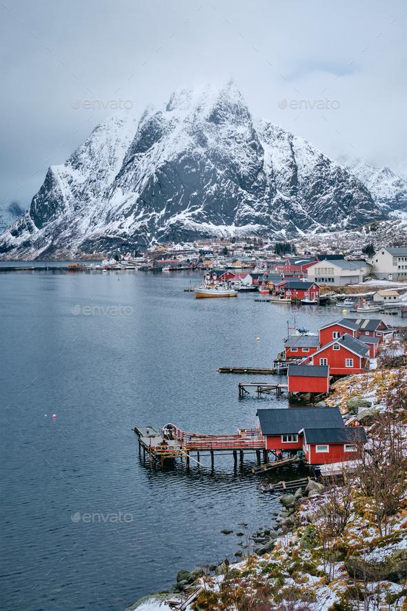 Reine fishing village, Norway - Stock Photo - Images