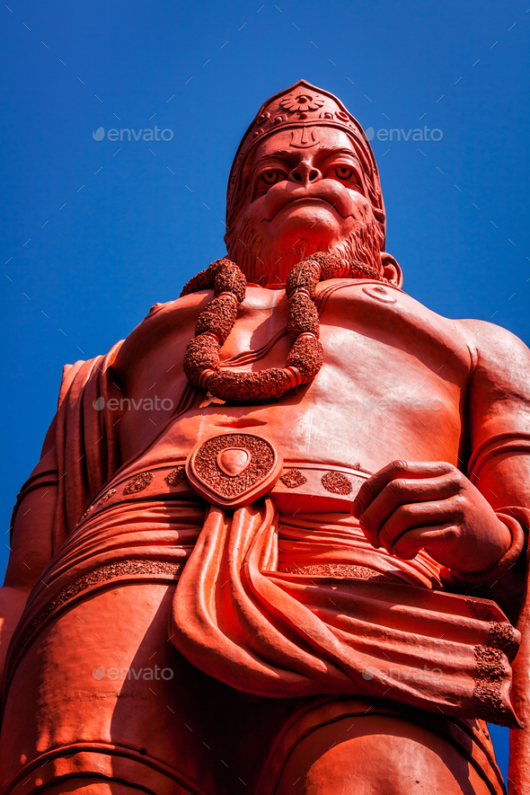 World's tallest statue of Lord Hanuman, India - Stock Photo - Images