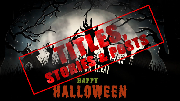 Halloween Titles, Stories & Posts Download Free