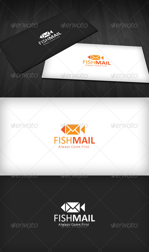 Fish Mail Logo - Animals Logo Templates