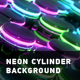 Neon Cylinder Background - VideoHive Item for Sale
