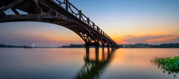 Bridge of the lake - Stock Photo - Images