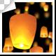 Sky Lanterns Moving Upward - VideoHive Item for Sale