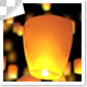 Sky Lanterns Moving Upward Center - VideoHive Item for Sale