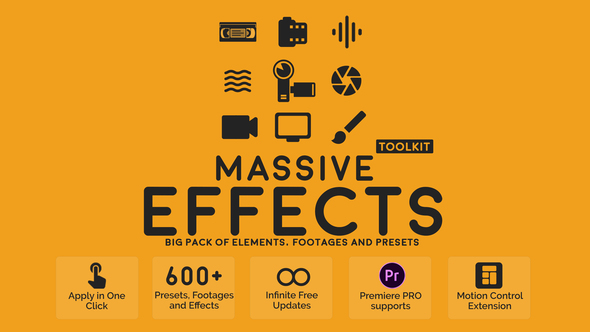Massive Effects Toolkit Big Pack of Presets Transitions and Footages Download Free
