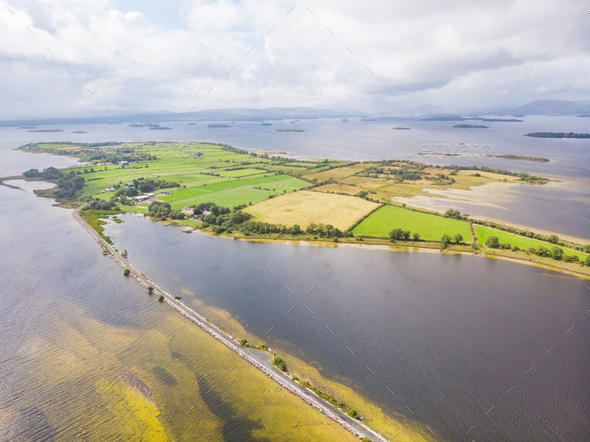 Aerial View of Inishquin Island - Stock Photo - Images
