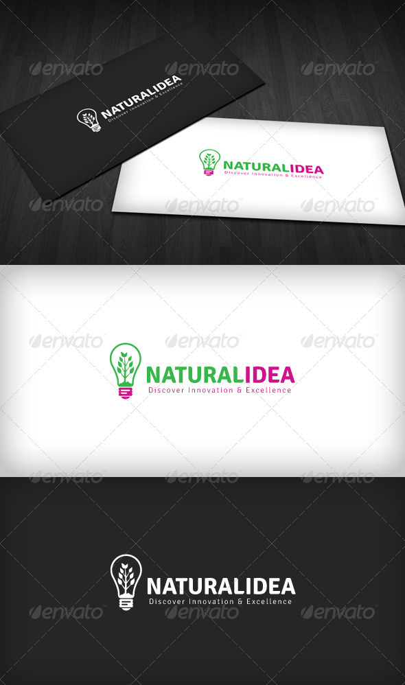 Natural Idea Logo - Nature Logo Templates