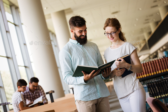 Students preparing the examinations - Stock Photo - Images