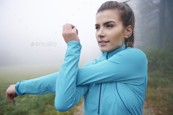 My body is almost ready for workout - Stock Photo - Images