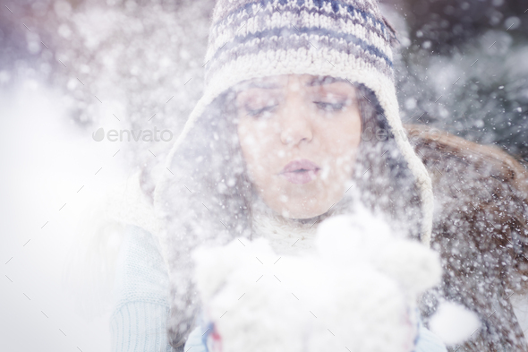 Winter is magic time for me - Stock Photo - Images