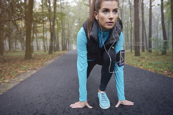 I love my morning running - Stock Photo - Images
