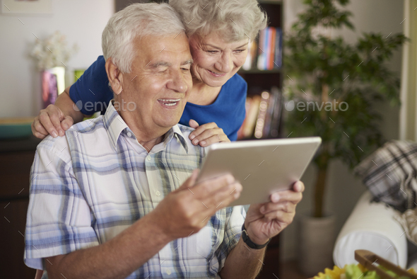 Modern technology is not a problem for us - Stock Photo - Images