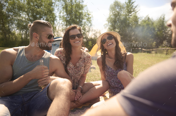 Perfect weather to spend time outdoors - Stock Photo - Images