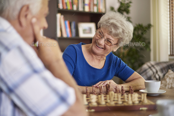 Playing chess is a good way of relaxation - Stock Photo - Images
