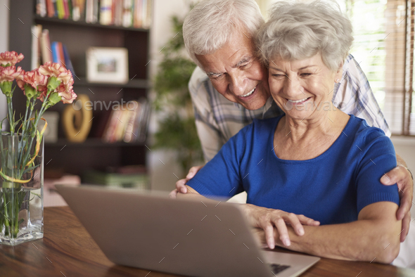 Modern technology it not a problem for them - Stock Photo - Images
