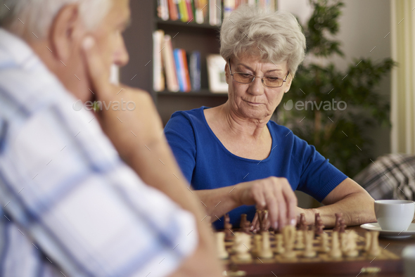 Chess is a game that demands patience - Stock Photo - Images