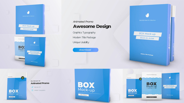 Box Product Pack Mockup - Box Software Mock-up Cover Template Download Free