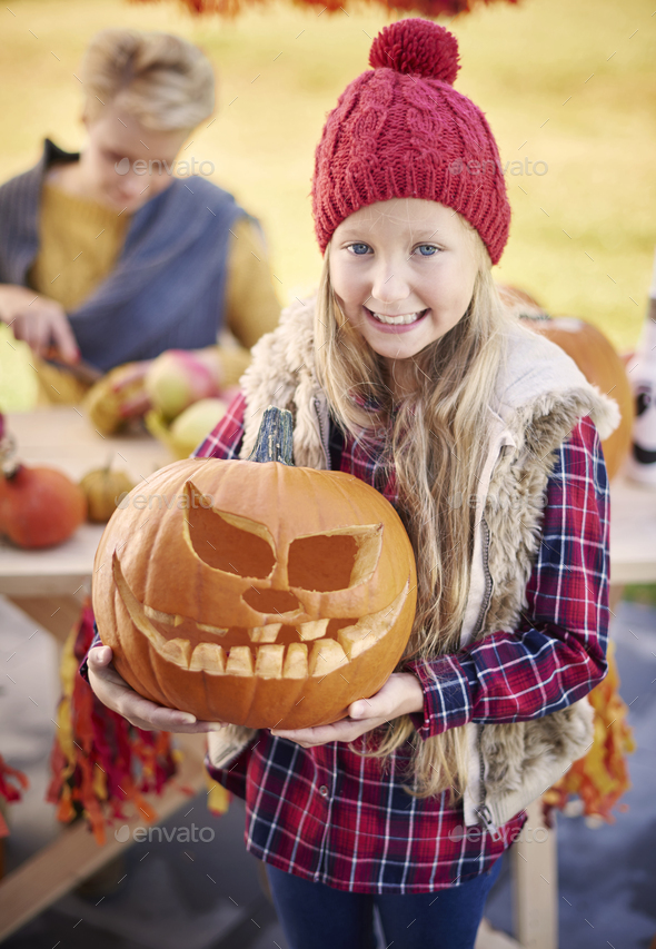 This pumpkin is the most scary if all - Stock Photo - Images
