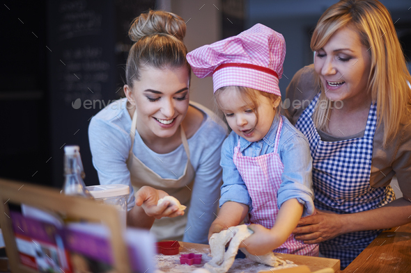 Baking together is tradition in our home - Stock Photo - Images