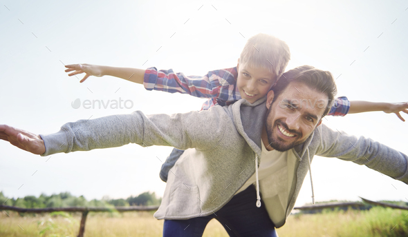 Let's play together on the fresh air - Stock Photo - Images