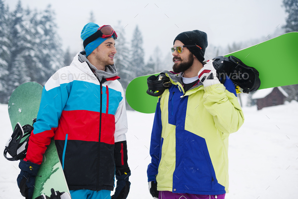 This is men's day with snowboard - Stock Photo - Images