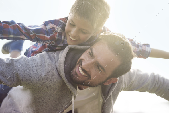 Time with my son is special for me - Stock Photo - Images