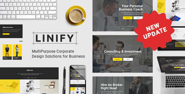 Exceptional Linify - Multipurpose Corporate WordPress Theme