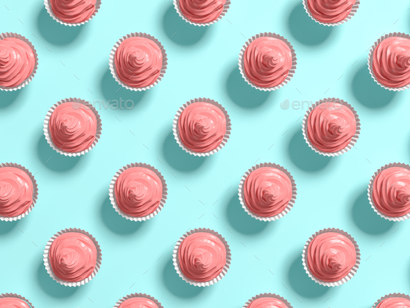 Punchy pastels lollipops abstract background 3D illustration - Stock Photo - Images