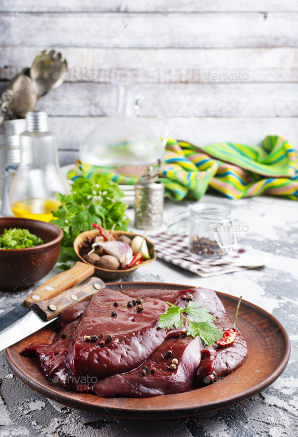 raw liver - Stock Photo - Images